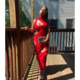 VINI DRESS – IN HONEY MUSTARD & RED